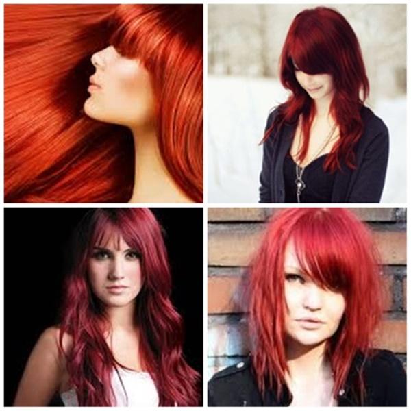 cabelos vermelhos em tons de ruivo