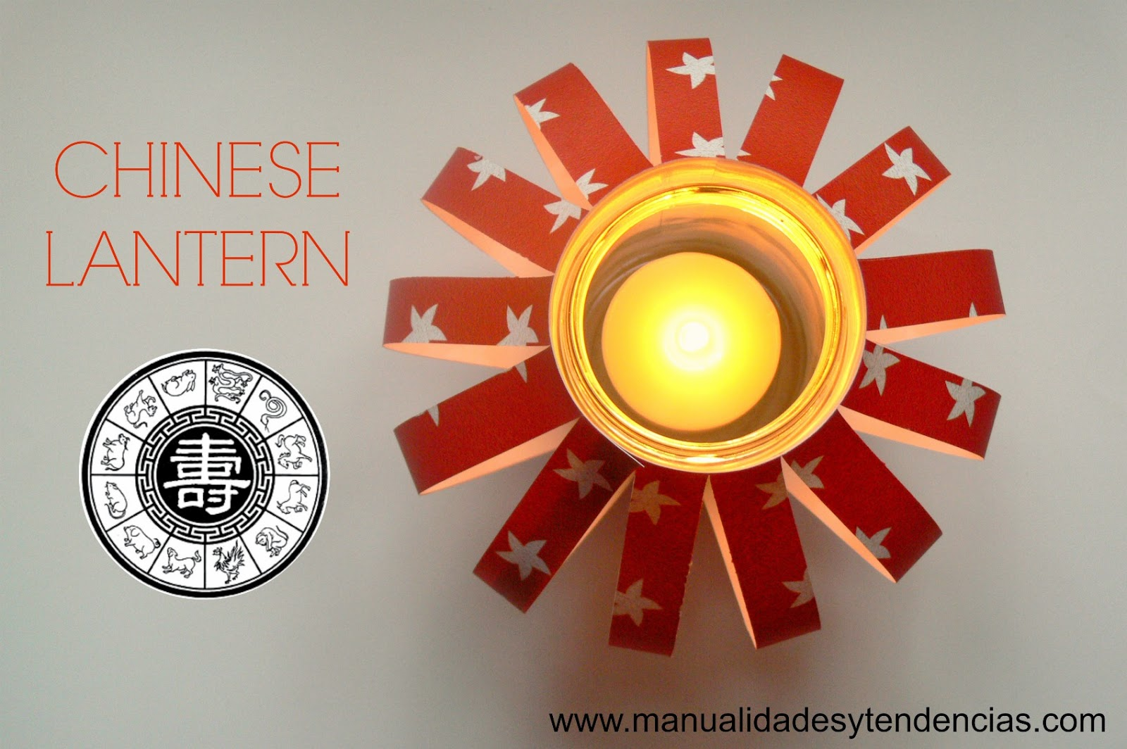 Handmade paper lantern for Chinese New year