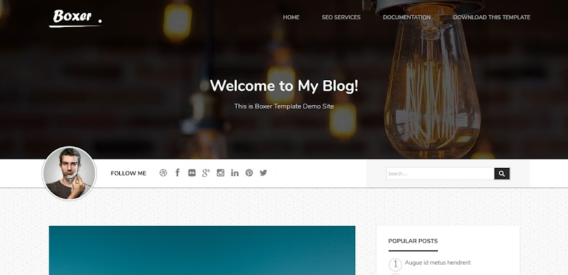 Boxer Free Blogger Template
