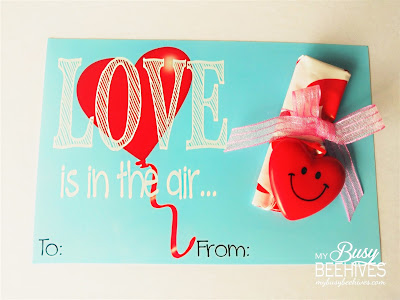 Love is in the Air! free printable Valentines with heart parachutes