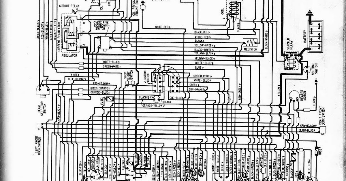 Free Auto Wiring Diagram: 1957 Ford V8 Fairlane, Custom300, or Thunderbird Wiring Diagram