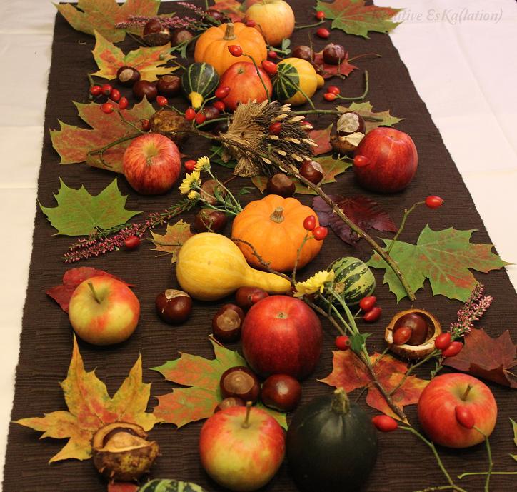 Herbstliche Tischdeko eska kreativ dekoration herbstliche tischdeko