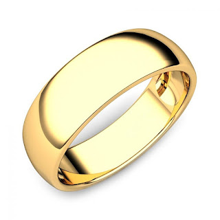 22k Gold Plated Plain Ring.
