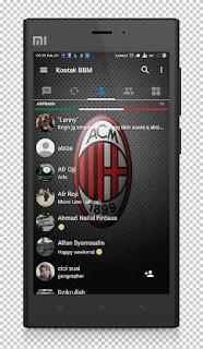 BBM MOD AC Milan Base v3.1.0.13 APK Terbaru 2016 Anti Lemot 2