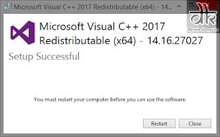 cara mudah menginstall visual c runtime
