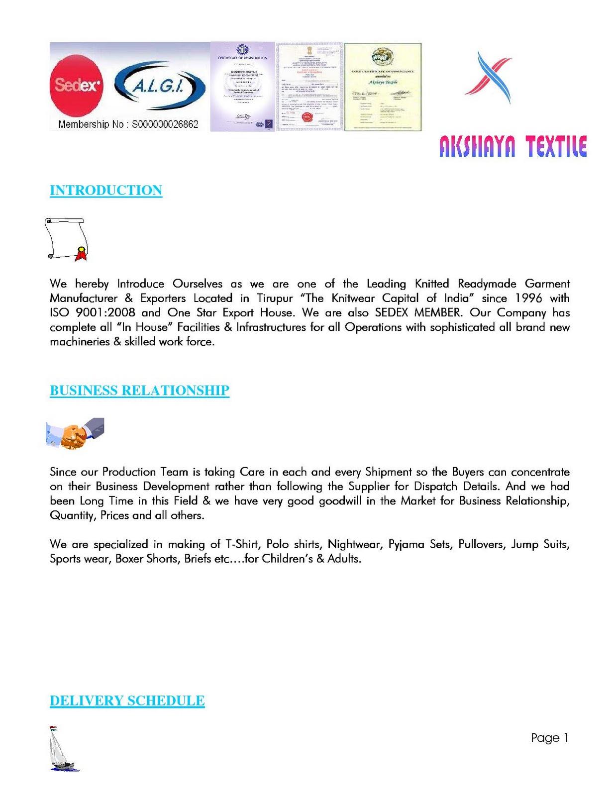Akshaya Textile: Akshaya Textile - Company Profile