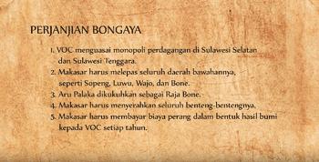 Bongaja adalah kesepakatan yang berisi perjanjian perdamaian antara Sultan Hassanudin dar Isi Perjanjian Bongaya 1667
