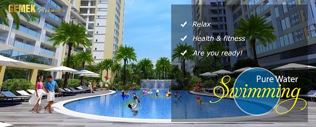 Bể bơi cao cấp tại dự án Gemek Premium