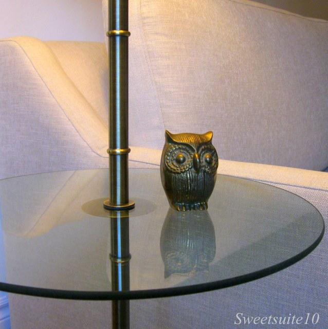 Brass owl figurine