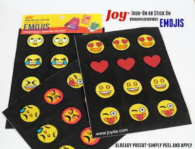 Iron on Emoji patches