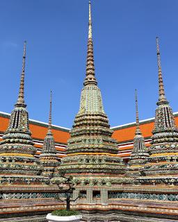 Particolare del Wat Pho Temple a Bangkok