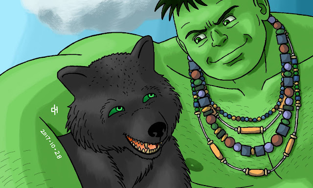 Commission 0031, The Hulk and Fenris