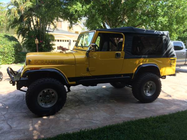 1983 Jeep Scrambler Pickup With Soft Top For Sale