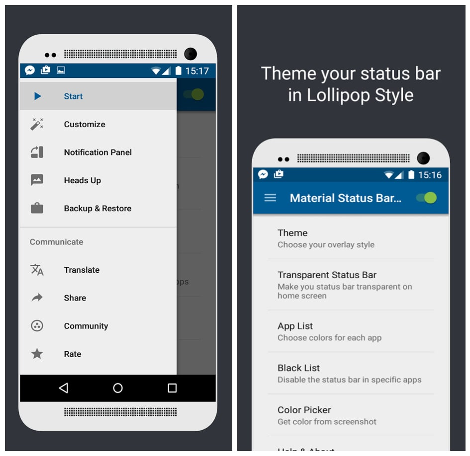 download material status bar pro apk latest