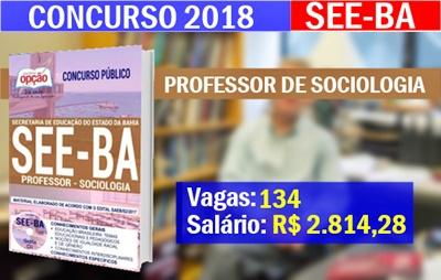Concurso SEE-BA 2018 Professor de Sociologia
