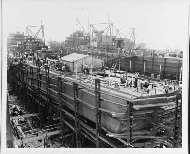 USS Juneau under construction on 1 September 1941 worldwartwo.filminspector.com