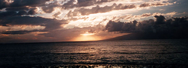 Molokai beckons in the distance in this photo that I took during my trip to Maui on May 22-29, 2000.