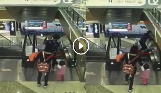 VIDEO: Lagi Bayi Maut Jatuh Eskalator... Ngerinyaaa ... Mudahnya Kesilapan Boleh Berlaku.. Mak Dia Pun Bengap !