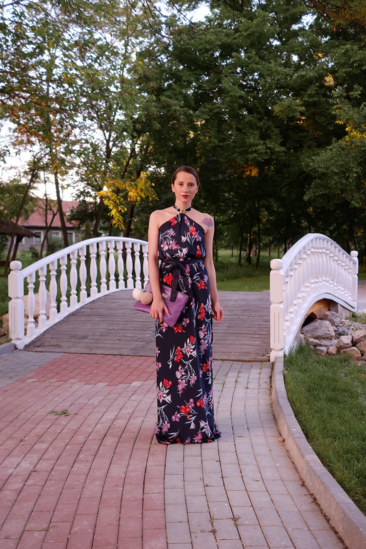 wedding wear floral maxi dress