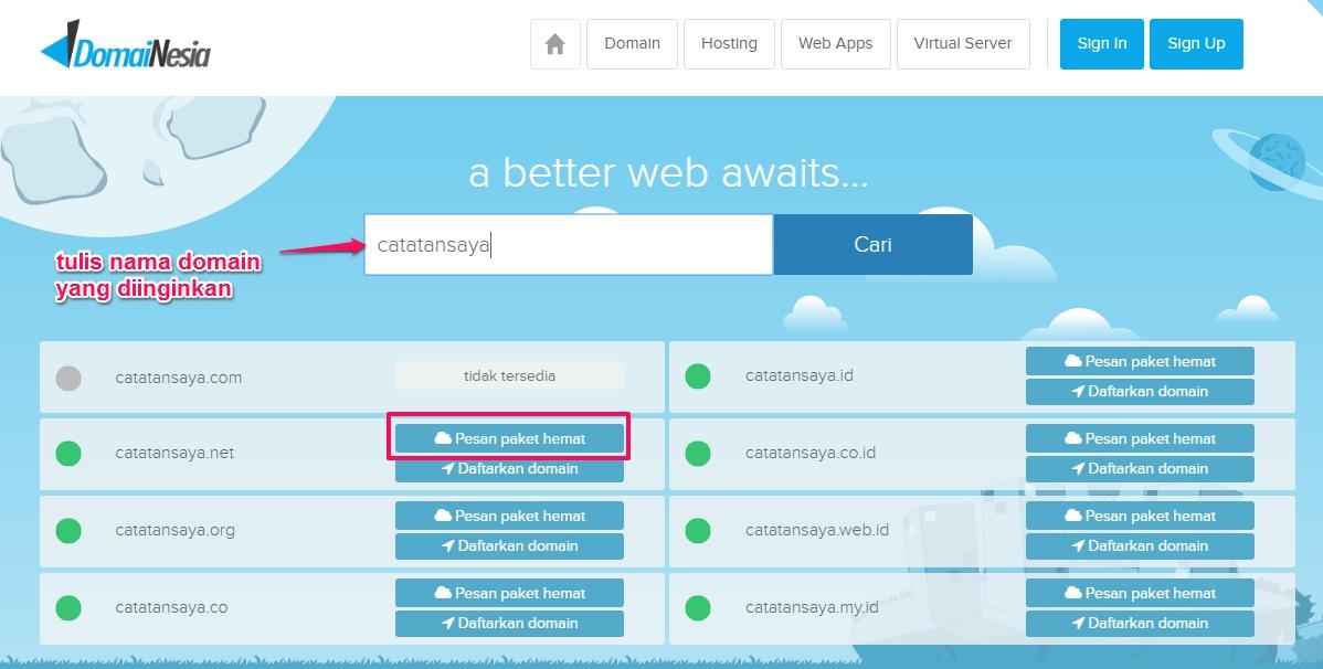 Cara Beli Hosting Di Domainesia Untuk Pemula Awam Gaptek Uptodit Com