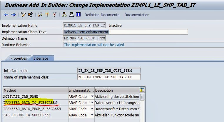 TECHSAP : Screen Enhancement for Delivery item of VL01N