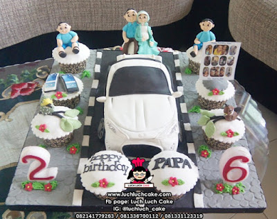 3d Cake Fondant Mobil Untuk Ulang Tahun Papa