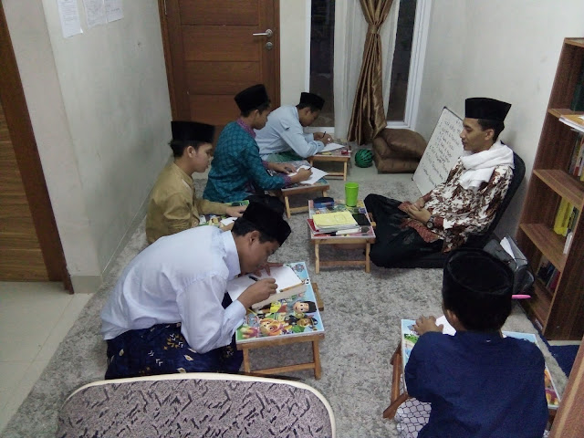 Atmosphere Semester Exams of Santri Anamfal Pesantren