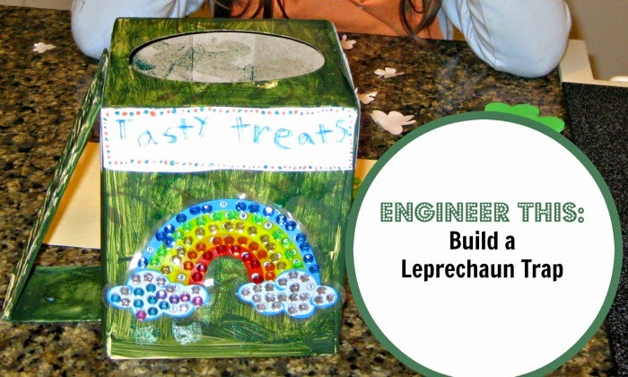 STEM activity for kids - design and build a leprechaun trap