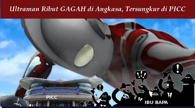 Ultraman Ribut Gagah lawan Raksasa tapi Tewas di PICC