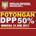 potongan DPP 50%