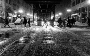 Wallpaper: People in Winter Nights