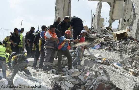Terremot en los estados de Morelos y Puebla en México