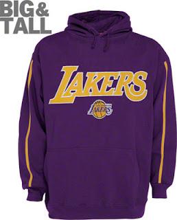 Big and Tall Los Angeles Lakers Purple Sweatshirt