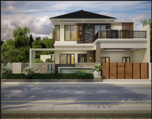 inspirasi desain rumah mewah model minimalis modern 2 lantai