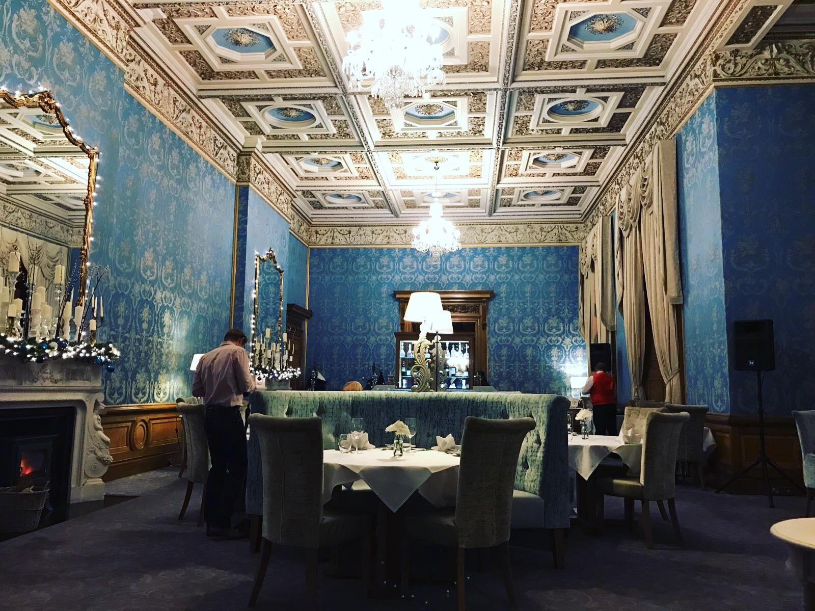 Thoresby Hall Blue Room Menu