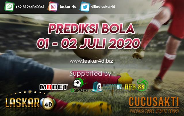 PREDIKSI BOLA JITU TANGGAL 01 – 02 JULI 2020