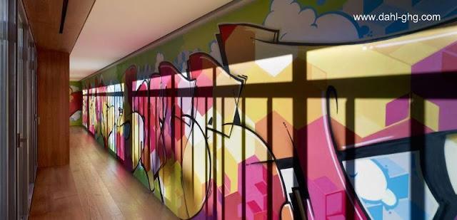 Vista de un sector en el interior de la residencia contemporánea española