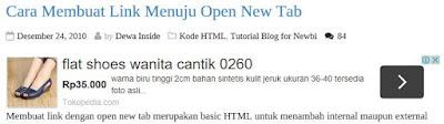 Memasang iklan dibawah judul postingan blog