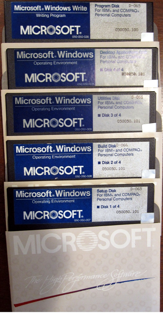 Windows 1.0 disks