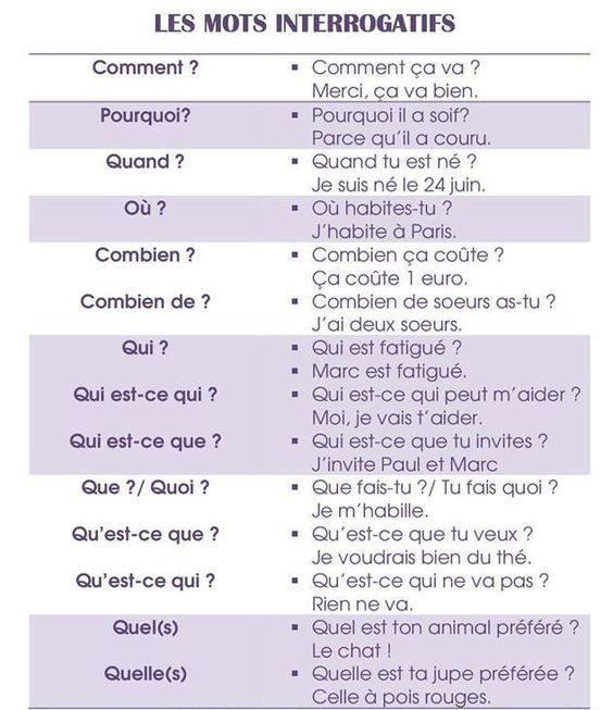 Zdania i pytania - słówka pytające 4 - Francuski przy kawie