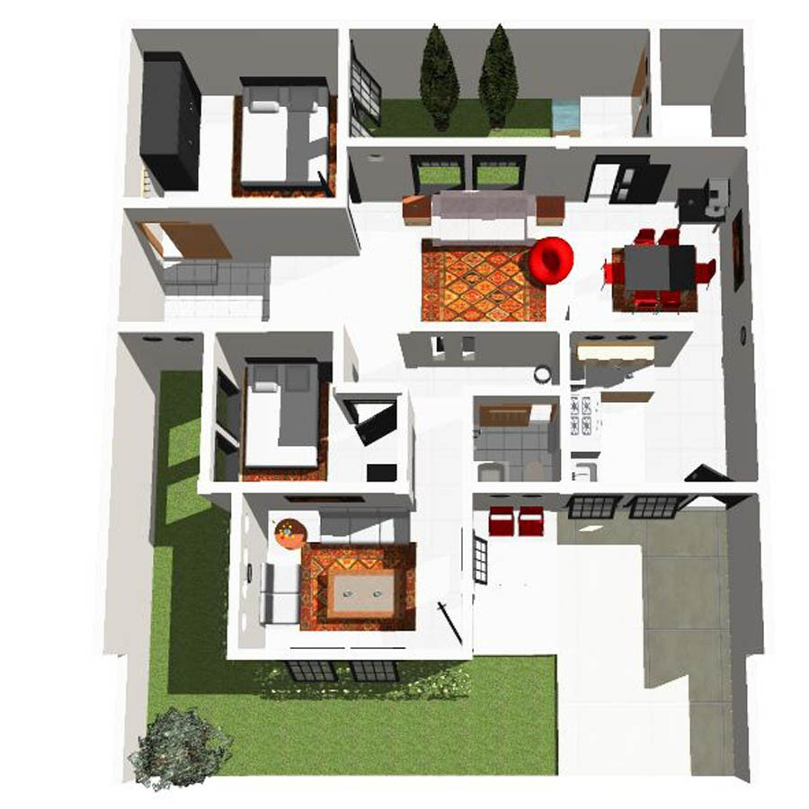 gambar denah rumah sederhana minimalis 1