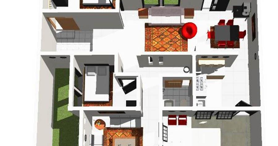 Rancangan Gambar Denah Rumah Sederhana Minimalis Yang Bagus Rumahminimalispro Com