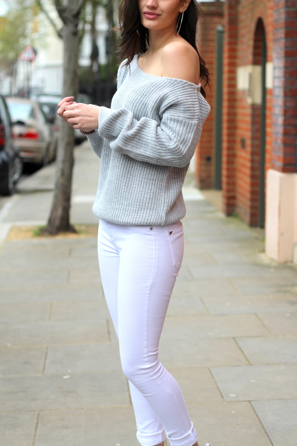 peexo fashion blogger spring white jeans