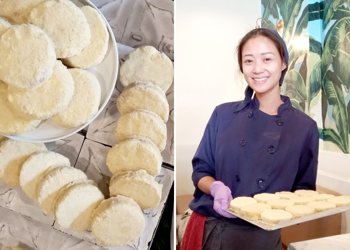 Chef Pauline Benedicto-Malilim with her uber delicious silvanas.