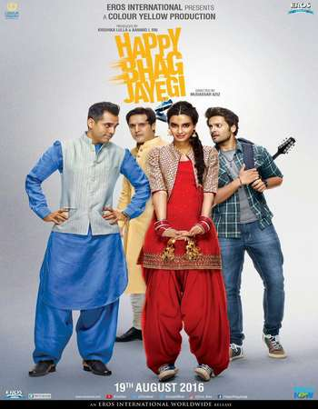 Poster Of Happy Bhaag Jayegi 2016 Hindi 140MB DVDScr HEVC Mobile Watch Online Free Download Worldfree4u