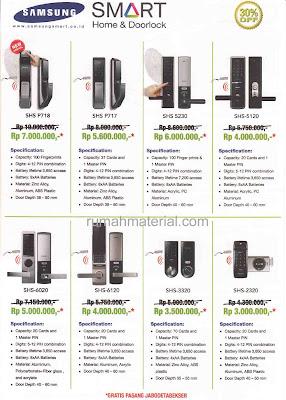Harga Samsung Smart Doorlock