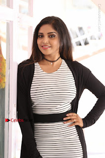 Telugu Actress Karunya Chowdary Stills in Black Dress at Soda Goli Soda Movie Opening  0214.JPG