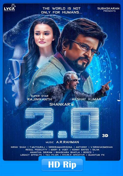 2.0 2018 720p HDRip Hindi Tamil Telugu x264 | 480p 300MB | 100MB HEVC