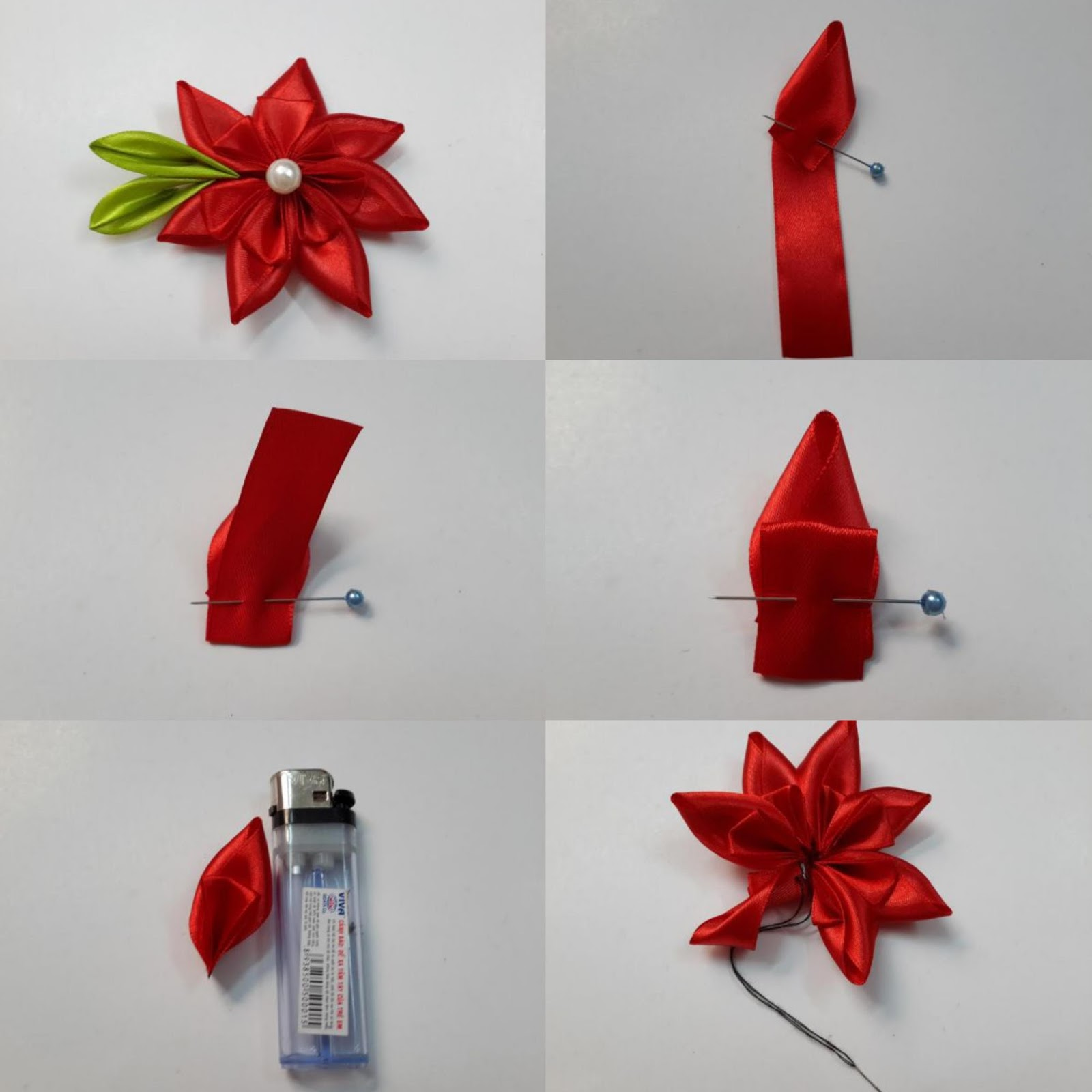 Como Hacer Rosas Con Lazos Lazo Navidad With Como Hacer Rosas Con  ~ Lazos De Cinta De Raso Paso A Paso