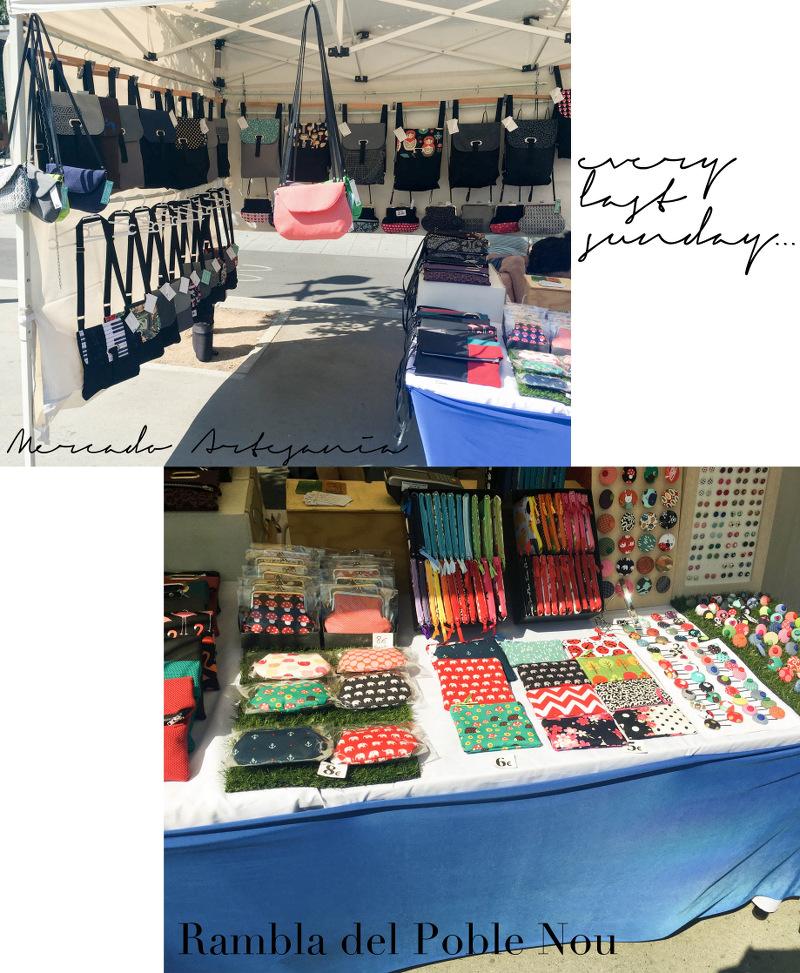 Barcelona Poble Nou Market Stalls Marktstände Mercado Artesania